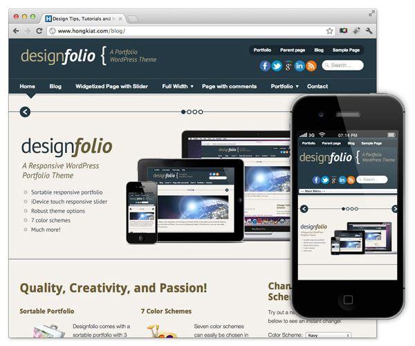 Imagen de plantilla WordPress en internet