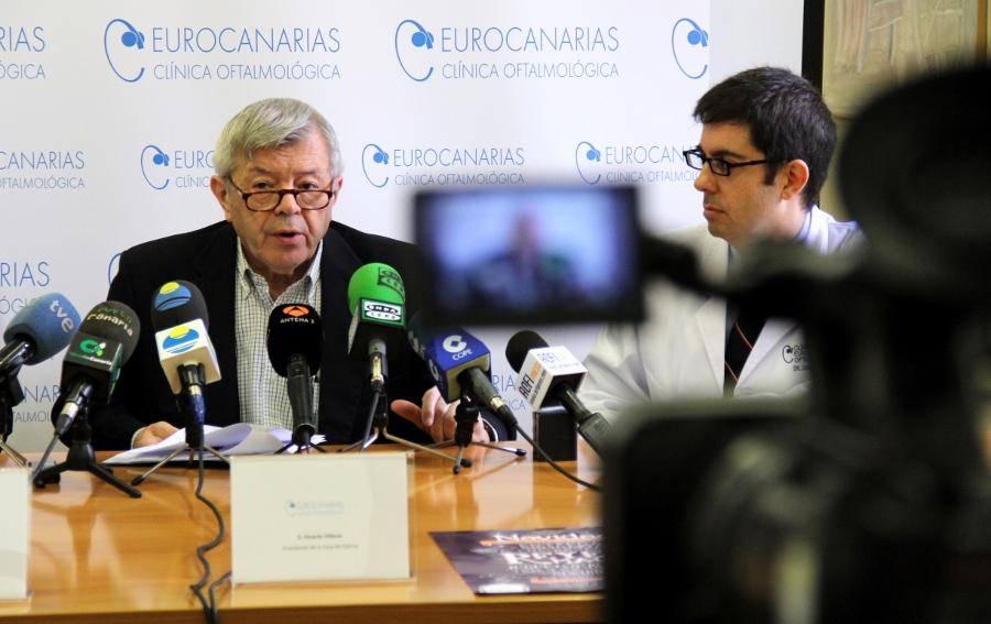 Momento de la RP de Eurocanarias y Casa de Galicia