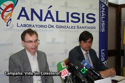 Antonio Barragán, presidente de la Sociedad Canaria de Cardiología (izq). Francisco Villanueva, director comercial de LGS Análisis (dcha).