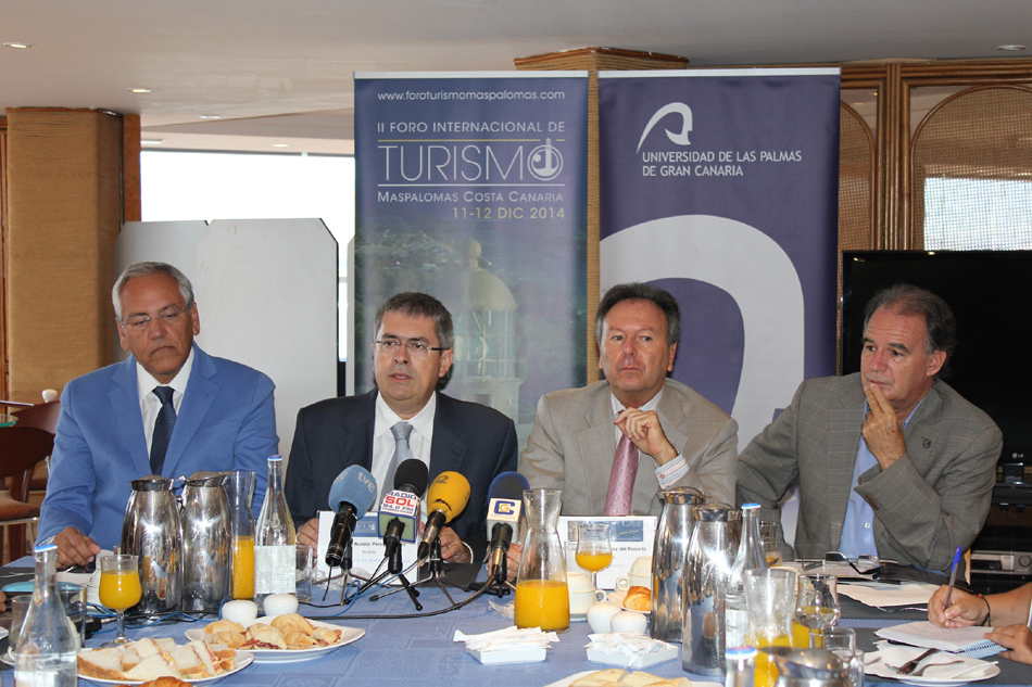 el turismo en las Islas Canarias - Presentación del II Foro internacional de Turismo